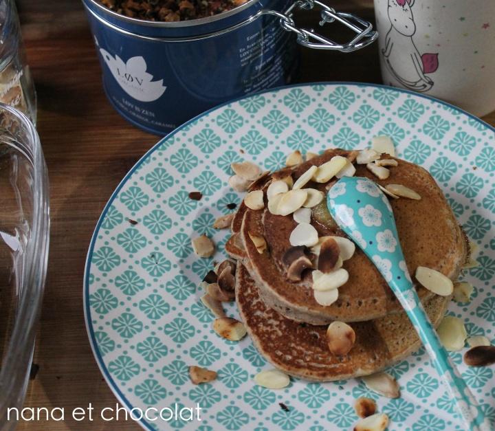Pancakes Vegan, au sarrasin, sans sucre ni matièregrasse