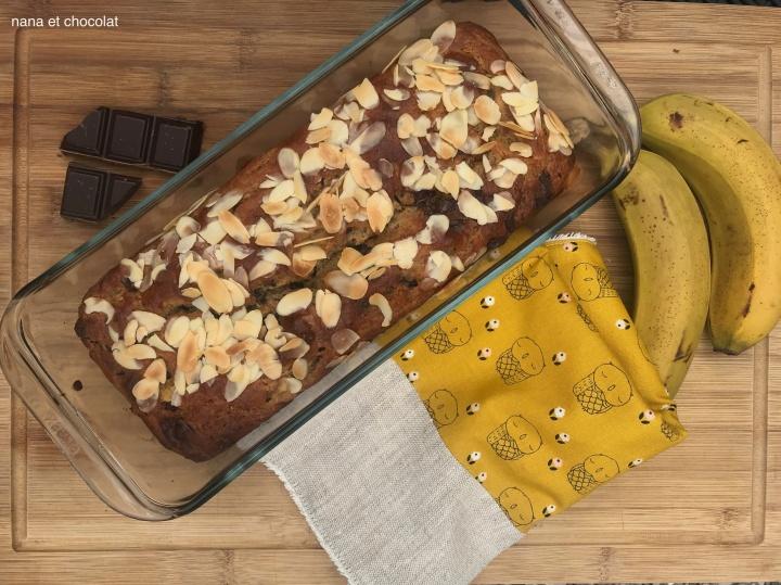 Banana bread ( sans sucre, sans huile, ni beurre)