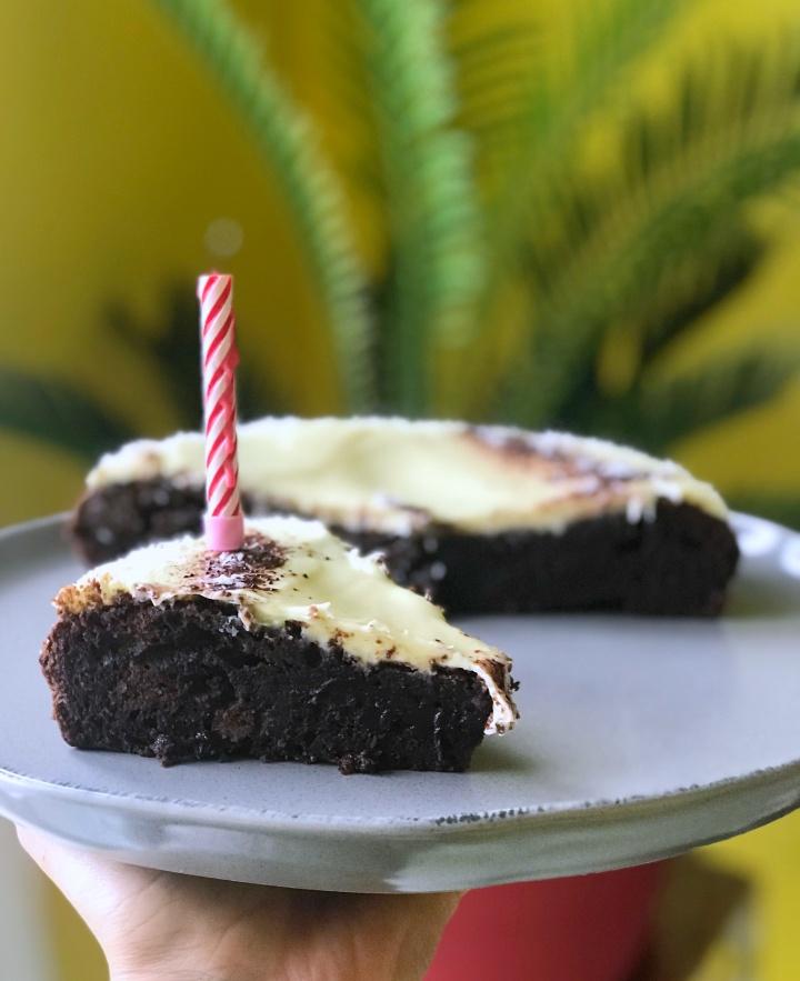 Le ( parfait^^) Fondant au chocolat noir ( glaçage au chocolatblanc)