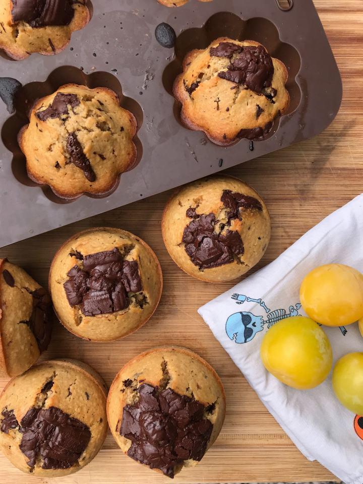 Muffins aux pépites de chocolat de CyrilLignac